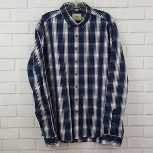 Frank & Oak Plaid Cotton Button Down Shirt